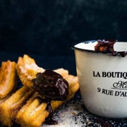 Eggless Churros with chocolate sauce