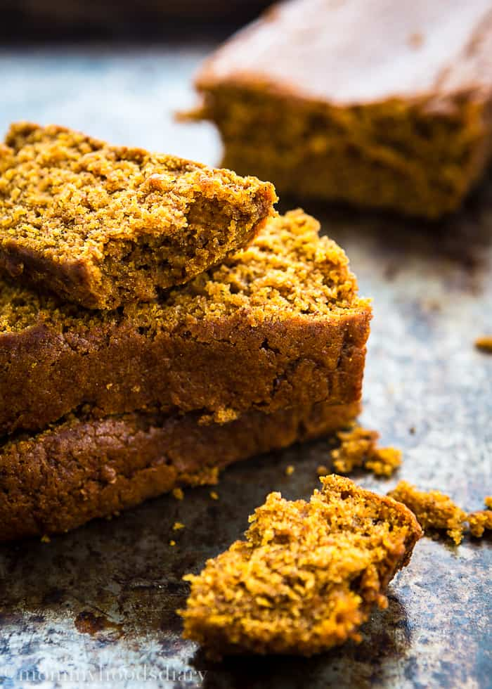 This is the best Eggless Pumpkin Bread ever! Moist and tender with the perfect combination of pumpkin and spice! Made in no time.