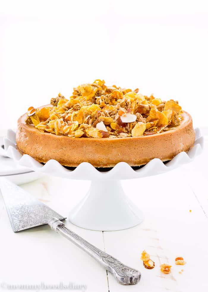 Eggless Dulce de Leche Cheesecake-3