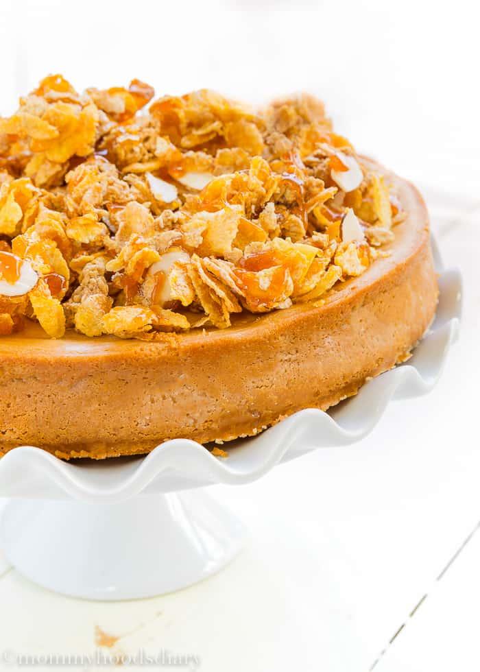 Eggless Dulce de Leche Cheesecake-4