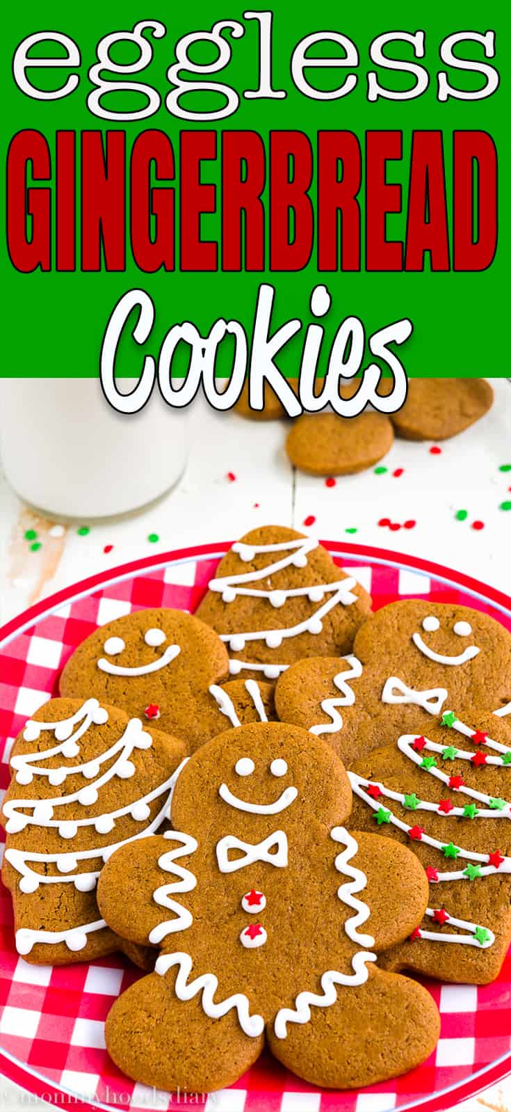 These Eggless Gingerbread Cookies are soft, spicy and chewy, but sturdy enough to be decorated. And oh-so- delicious.The perfect addition to your Christmas table!