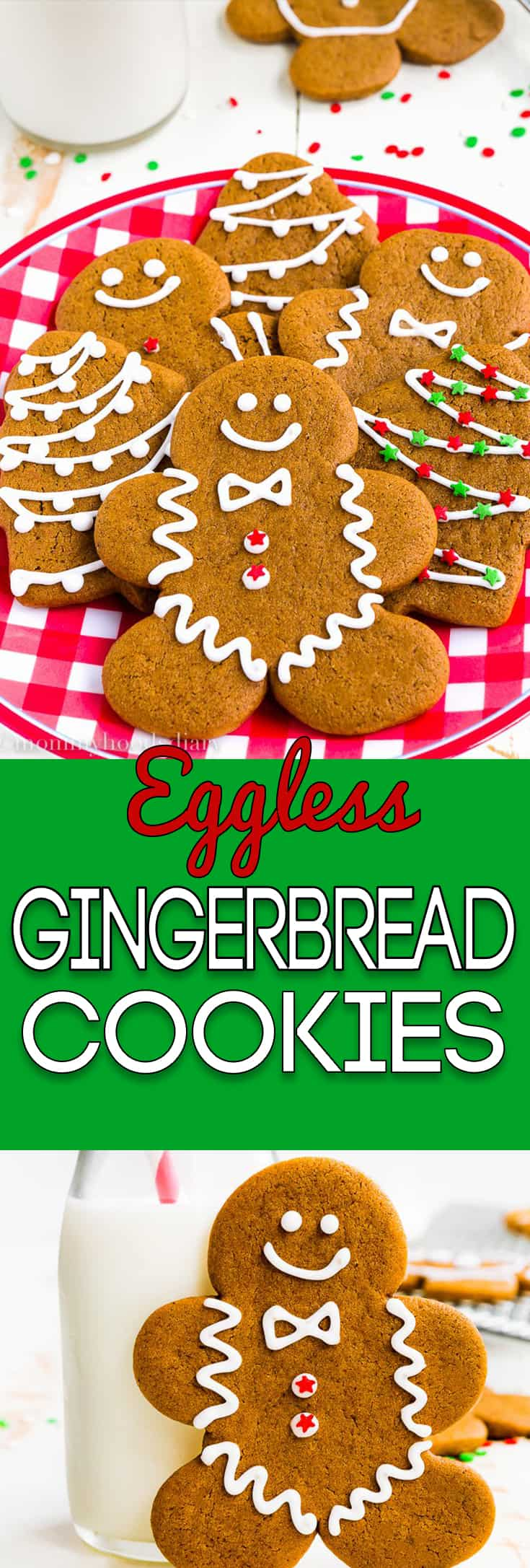 These Eggless Gingerbread Cookies are soft, spicy and chewy, but sturdy enough to be decorated. And oh-so- delicious.The perfect addition to your Christmas table! https://mommyshomecooking.com