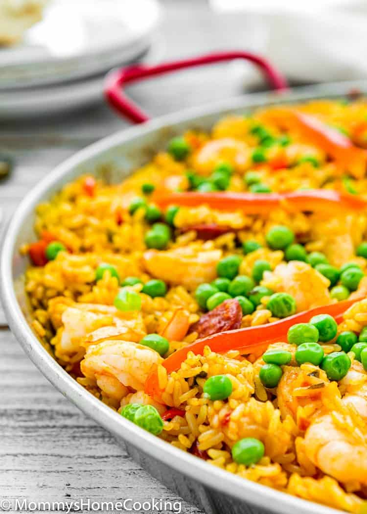 easy to make Paella in a skillet