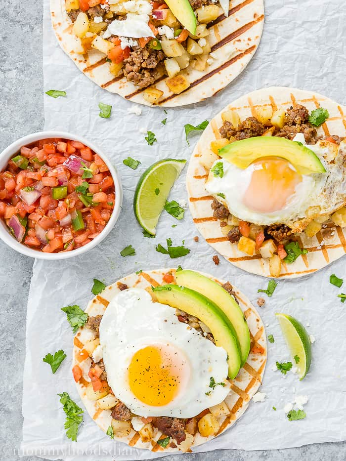 Sausage and Potatoes Breakfast Tacos-3