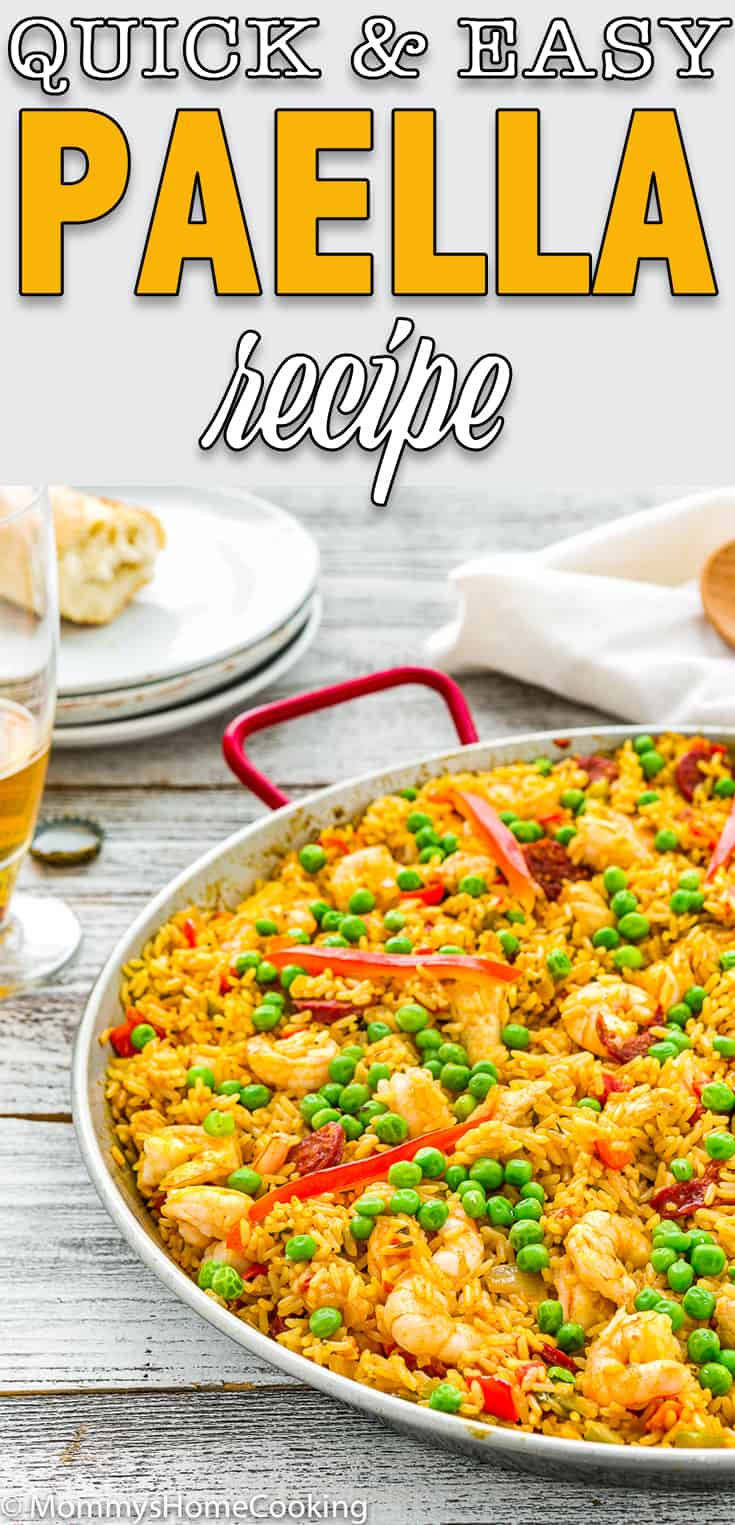 quick and easy paella in a paella pan
