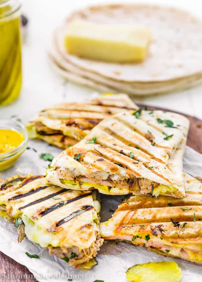 These Cuban Quesadillas are ridiculously easy to make, delicious, and bursting with flavor!  Perfect for an easy, NO-FUSS meal. https://mommyshomecooking.com