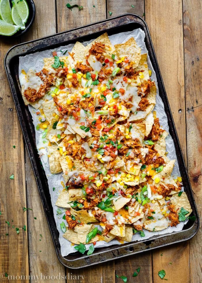 Tequila Barbecue Chicken Nachos-1