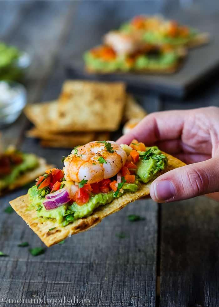 Mexican Crispy Shrimp Bruschettas-6