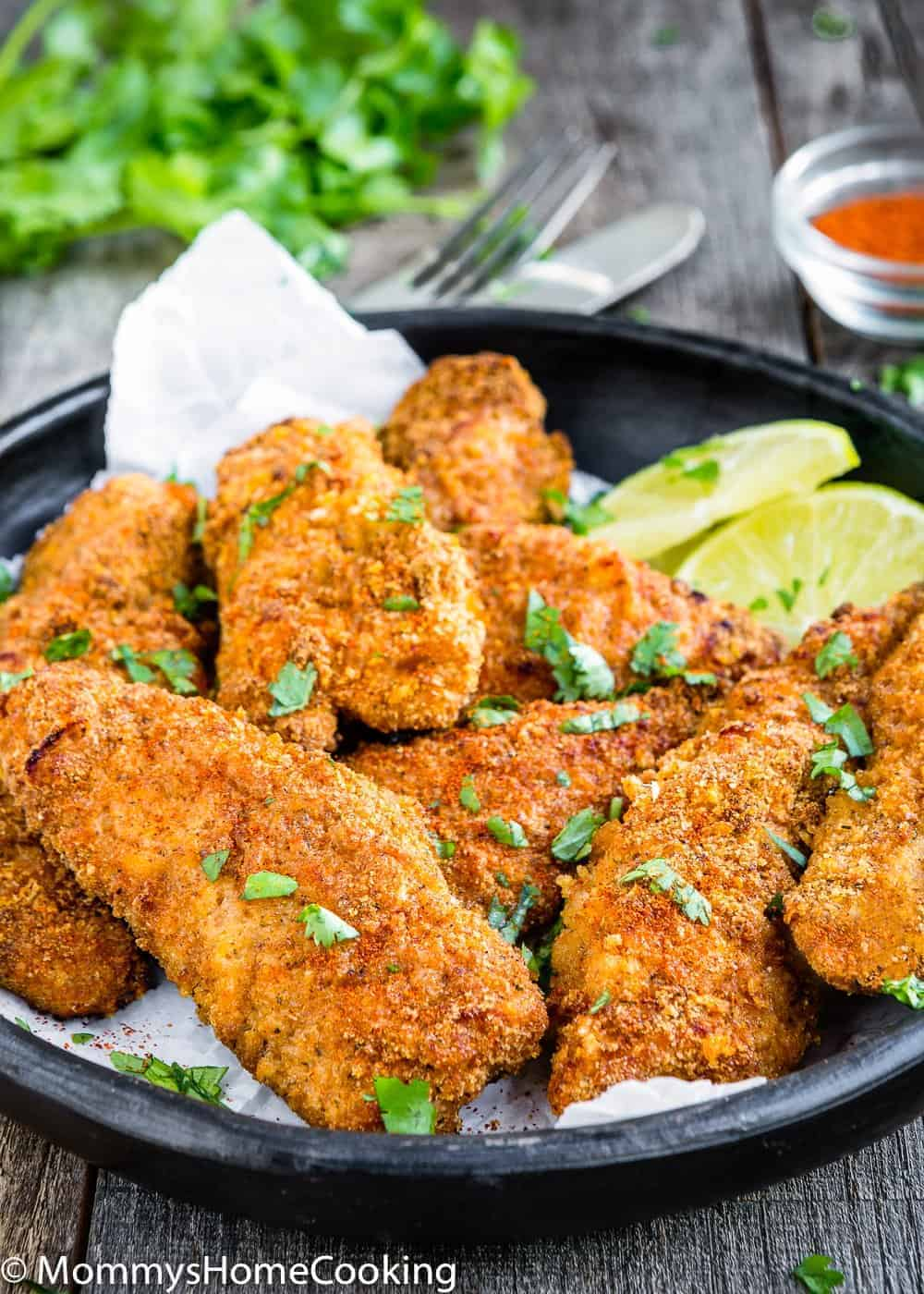 air fryer chicken tenders no breading calories