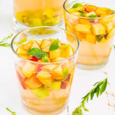 Sparkling Fruit White Sangria | Mommyhood's Diary