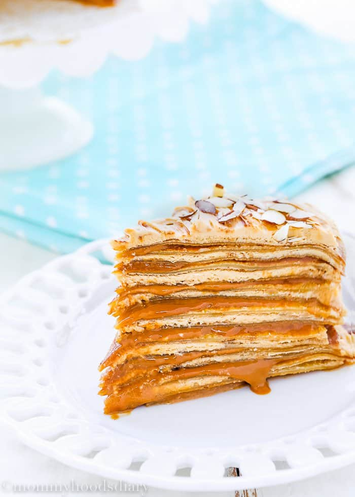 This Dulce de Leche Crepe Cake is creamy and flavorful… each bite is a real delight!!! The perfect dessert when you want something unique and decadent. Perfect dessert for birthdays, anniversaries, or any celebration! A showstopping cake for sure. https://mommyshomecooking.com