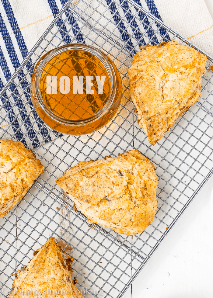 Honey Bacon-Cheddar Scones-8