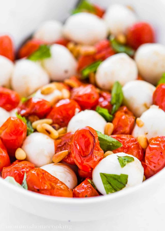 Roasted Tomato Caprese Salad-5