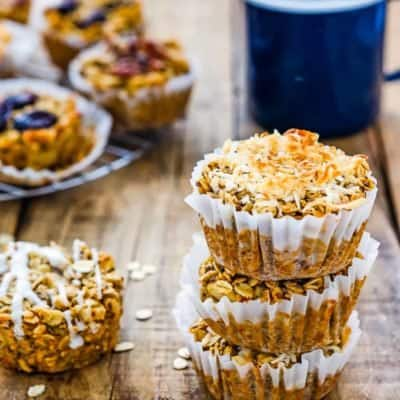 Eggless Baked Apple Oatmeal Muffins | Mommy's Home Cooking