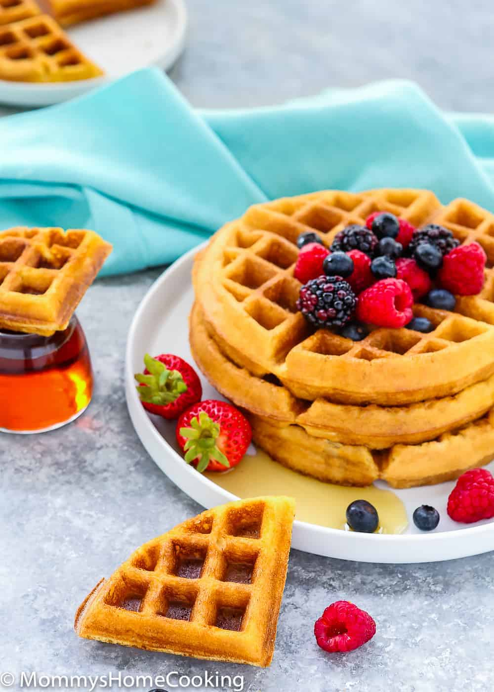 Waffles And Eggs Cake