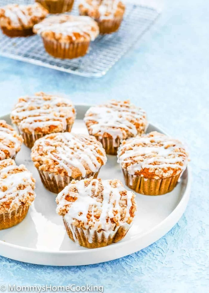 Eggless Pumpkin Muffins in a plate