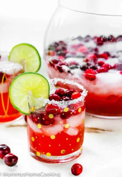 Roasted Cranberry margarita in a glass