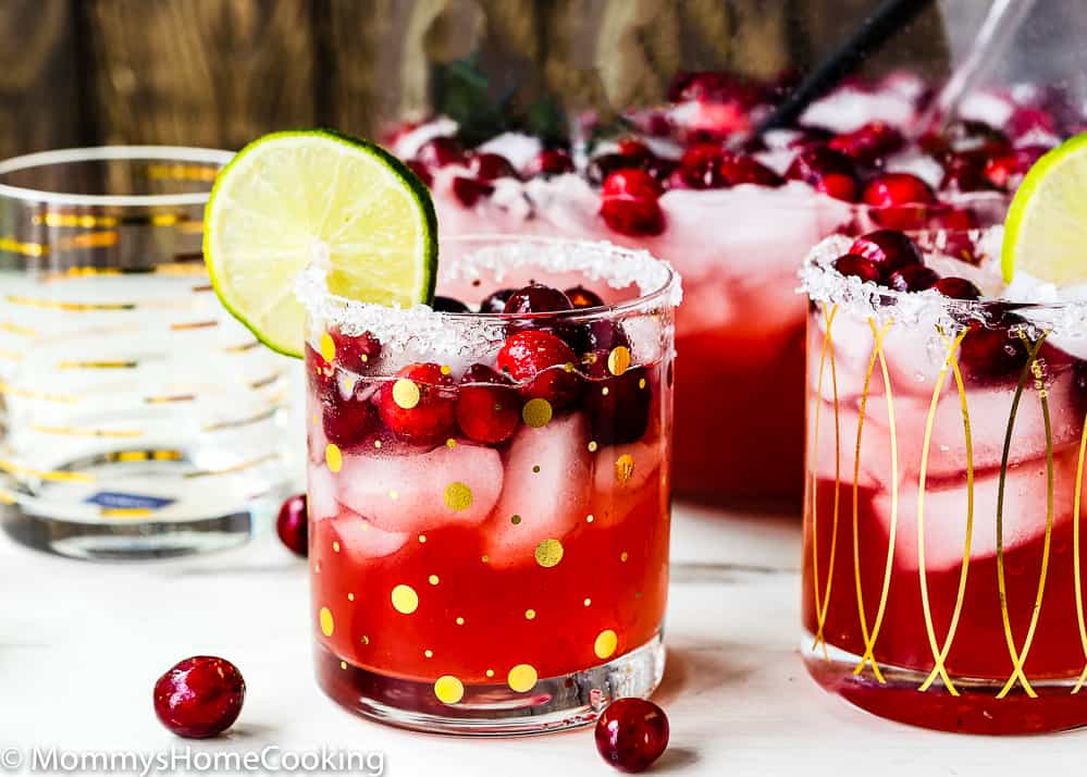 Roasted cranberry margaritas