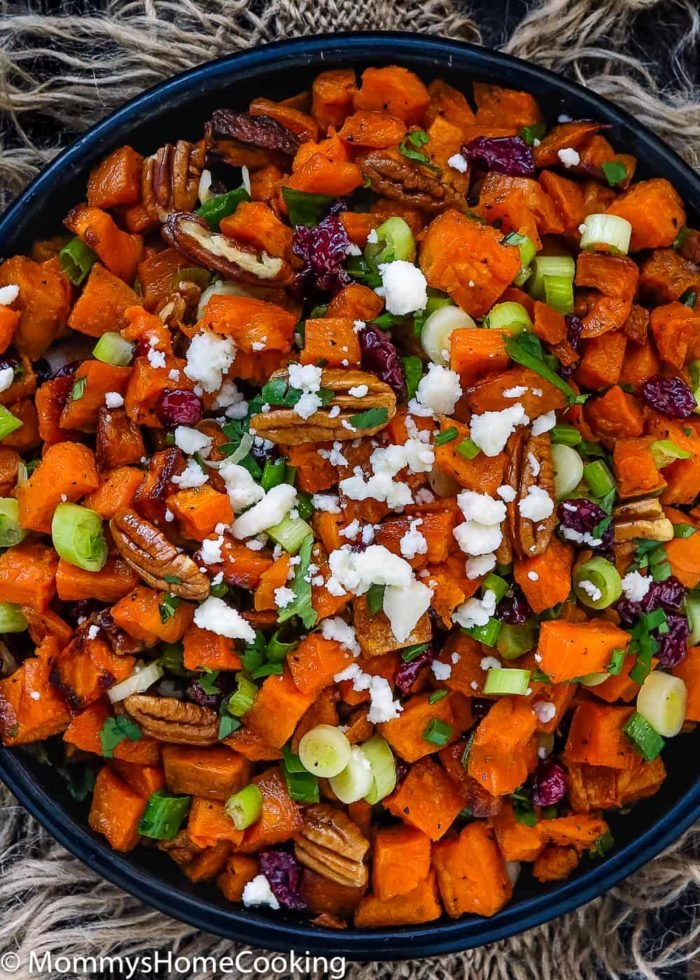 Roasted Sweet Potato and Cranberry Salad-2