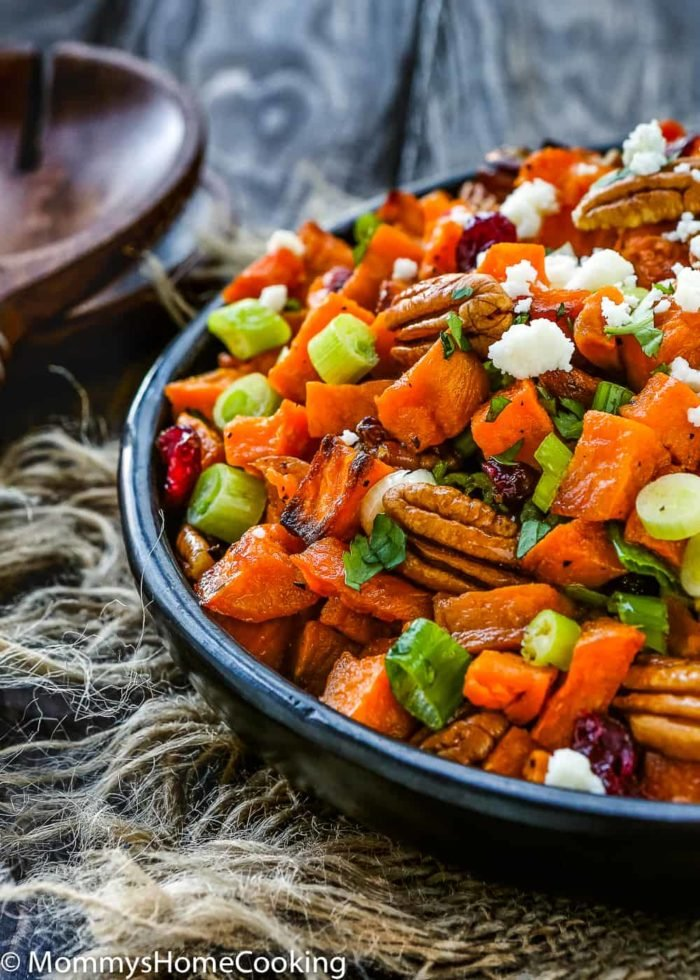 Roasted Sweet Potato and Cranberry Salad in detail