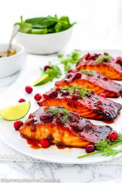 Cranberry Honey Glazed Salmon | Mommy's Home Cooking