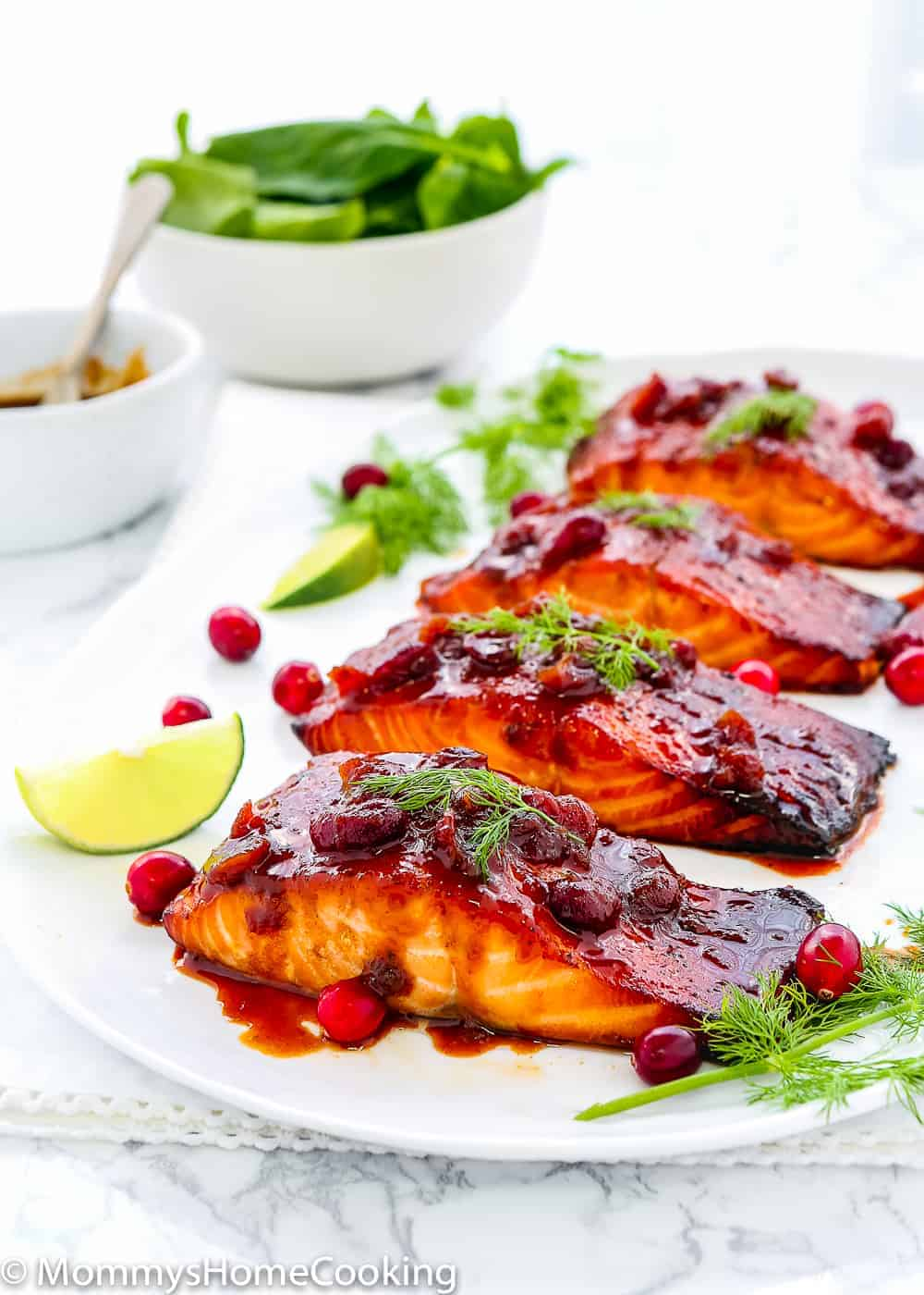 Cranberry Honey Glazed Salmon