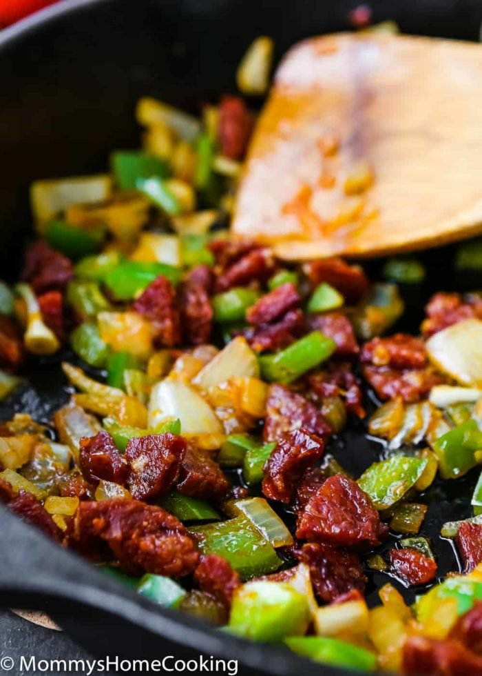 Easy Queso Fundido with Chorizo and Avocado-4