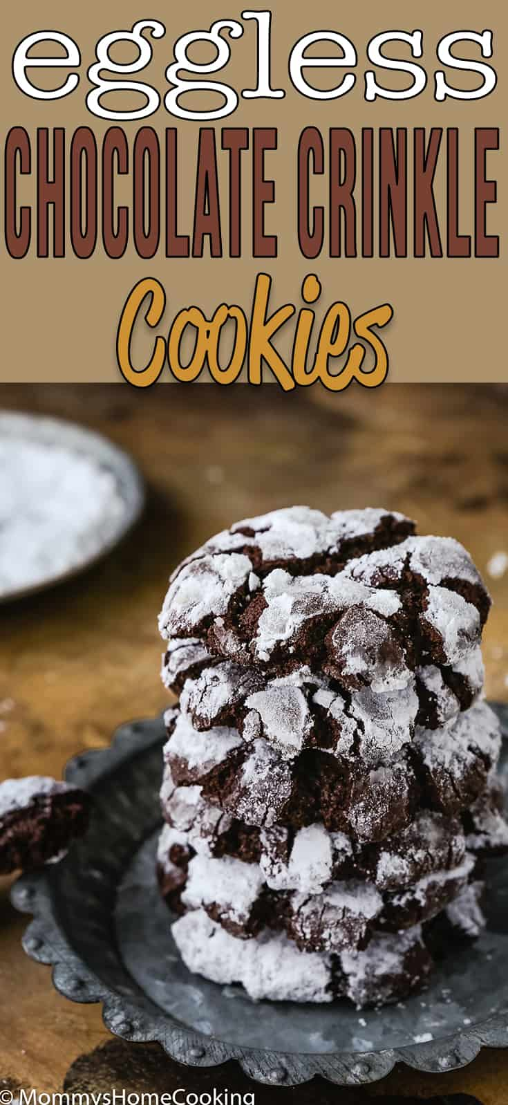 Eggless Chocolate Crinkle Cookies | Mommy's Home Cooking