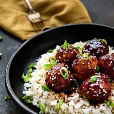 Instant Pot Teriyaki Turkey Meatballs