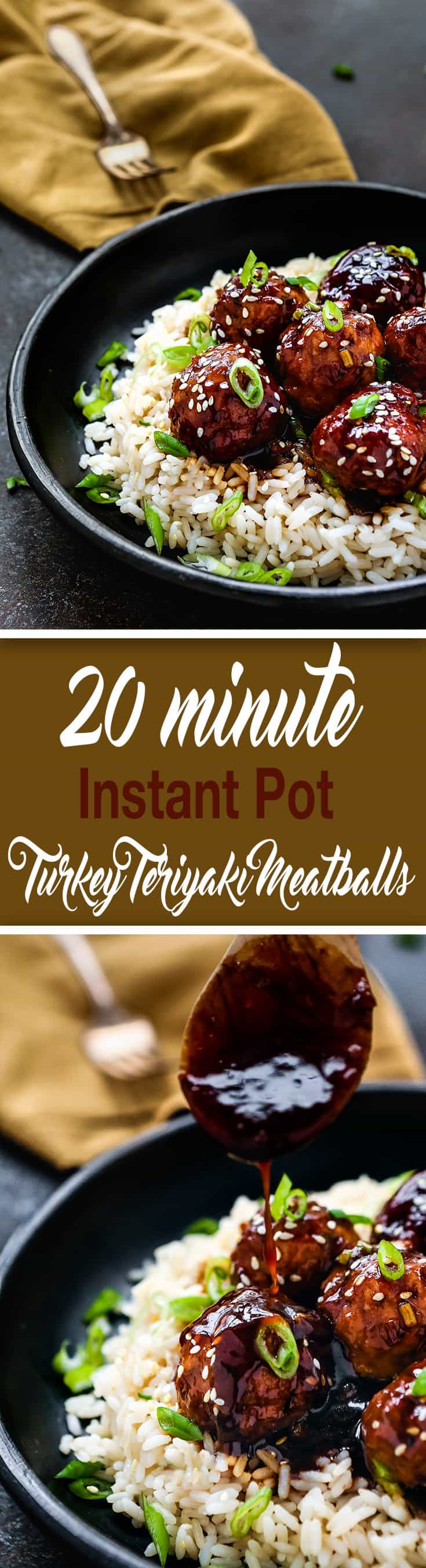 These 20- Minute Instant Pot Teriyaki Turkey Meatballs are perfect when you want a fast, family-friendly meal in a jiffy. These are crazy good and so easy. Serve over your favorite bowl of rice, quinoa, or steamed veggies. https://mommyshomecooking.com