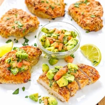 Skinny Oven Fried Pork Chops [KETO friendly]
