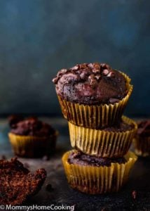 Eggless Banana Chocolate Chips Muffins