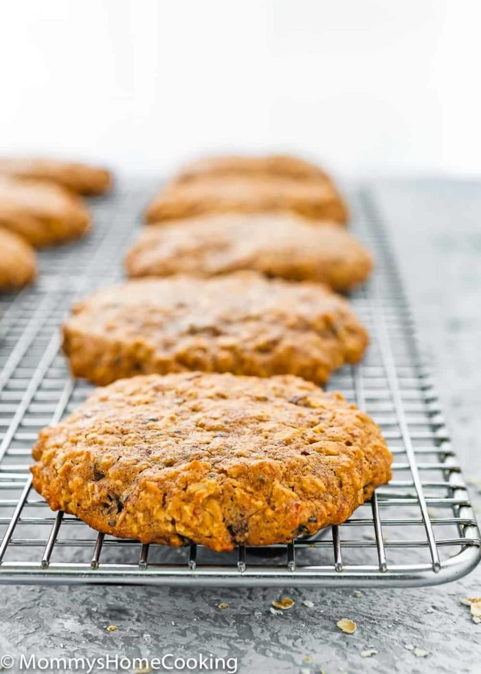 Delicious Eggless Breakfast Cookies in a cooling rack