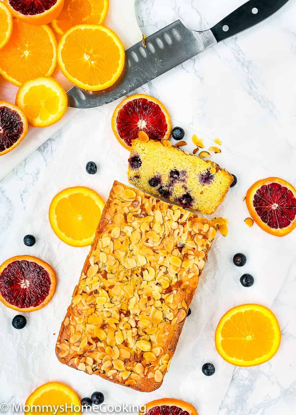 Eggless Orange Blueberry Corn Bread | Mommy's Home Cooking