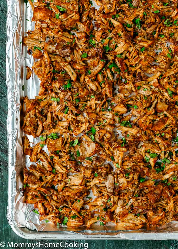 How to crisp Instant Pot Mexican Pulled Pork in the oven