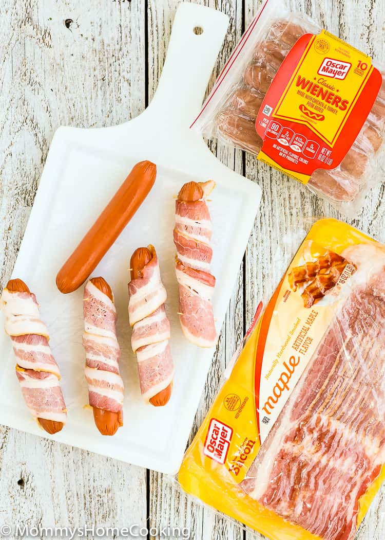 Easy Bacon Wrapped Hot Dogs on oscar mayer jalapeno dogs
