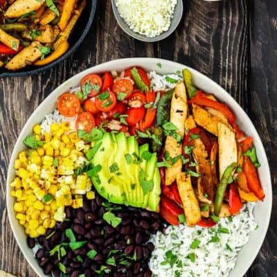 Easy Turkey Fajita Bowl