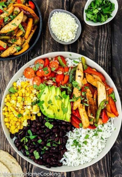 Easy Turkey Fajita Bowl | Mommy's Home Cooking