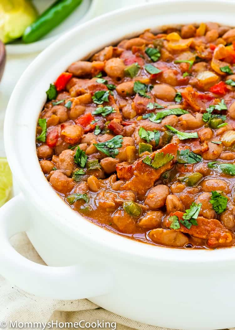 These Instant Pot Drunken Beans are seriously savory, hearty, scrumptious, and are easily made in 30 min! This makes a wickedly delicious big batch, so if you have leftover…smile. https://mommyshomecooking.com