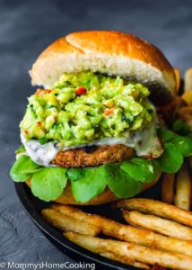 Mango Guacamole Turkey Burger