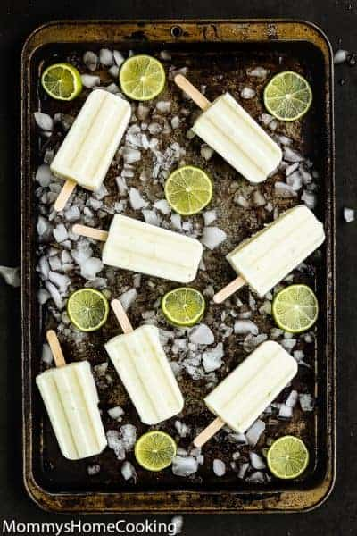 Easy 3-Ingredient Key Lime Popsicles