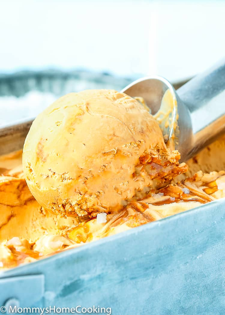 This 2 Ingredient Easy No-Churn Dulce de Leche Ice Cream is a delicately mouthwatering balance of sweetness and creaminess. It is surprisingly rich and indulgent, and you only need 2 ingredients. https://mommyshomecooking.com