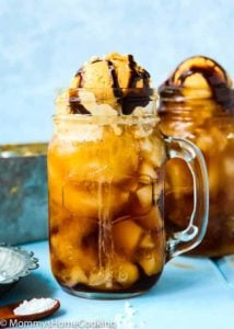 Root Beer Floats with 2 Ingredient Easy No-Churn Dulce de Leche Ice Cream