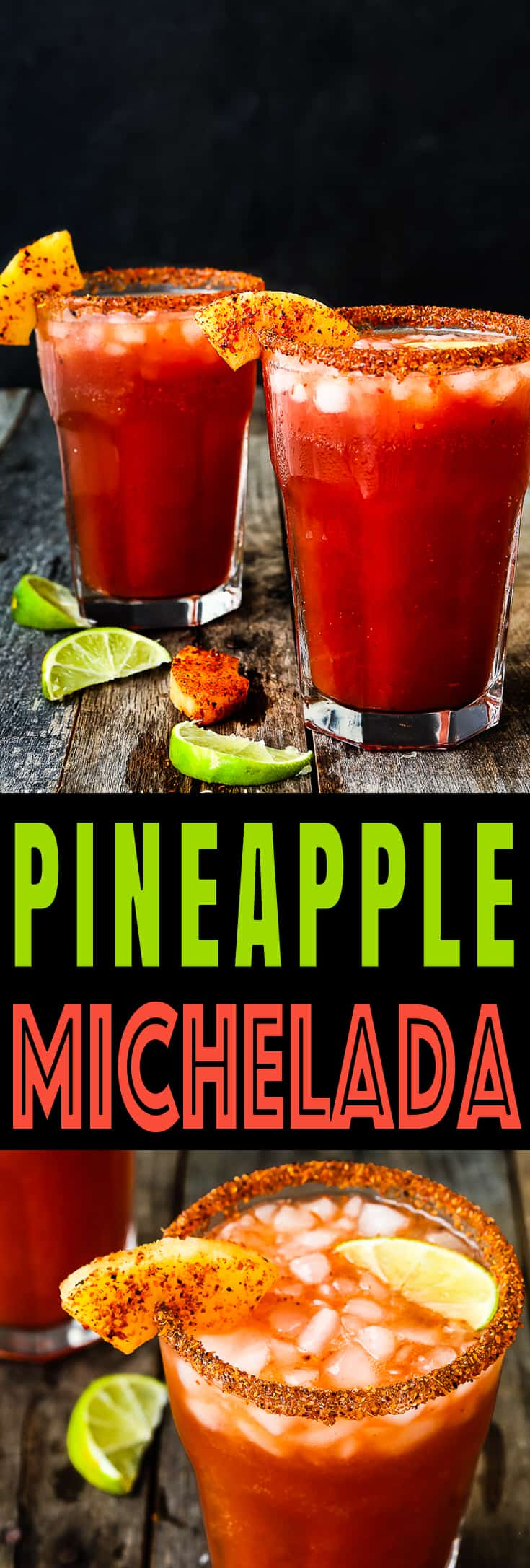 This Pineapple Michelada is the perfect beer cocktail for summer!! It has it all going on: savory, spicy, sweet and tart. So good, and so easy! https://mommyshomecooking.com