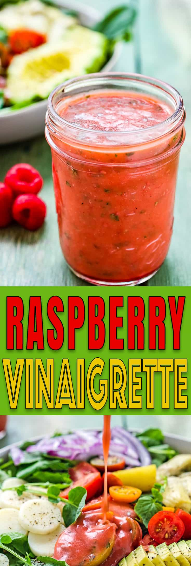 This Raspberry Vinaigrette is ridiculously easy to make with a few pantry staples. It's sweet, tangy, delicious, and will make an ordinary salad stand out. https://mommyshomecooking.com