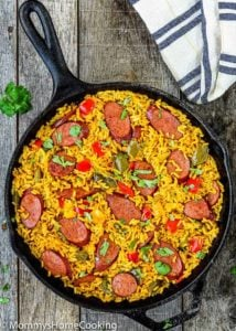 Easy Sausage and Peppers Rice Skillet | Mommy's Home Cooking