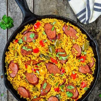 Easy Sausage and Peppers Rice Skillet