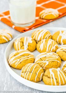 Cakey Eggless Pumpkin Cookies