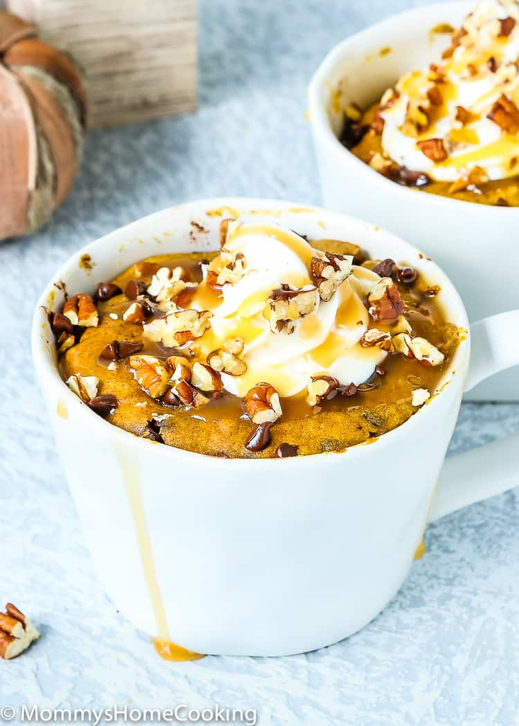3 minutes eggless Pumpkin Bread in a Mug