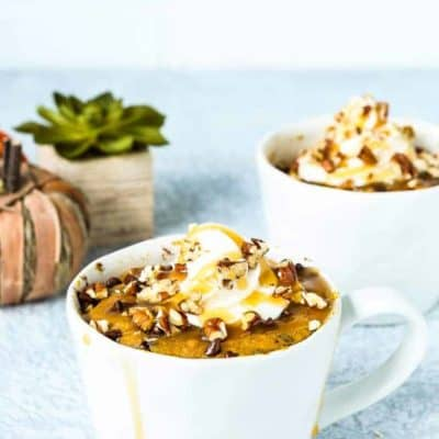 Eggless Chocolate Chip Pumpkin Bread in a Mug [Video]